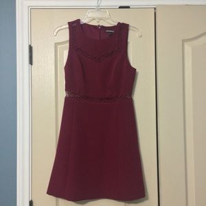 Express Wine Colored Dress with cutouts